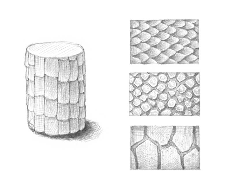 How to draw dragon scales