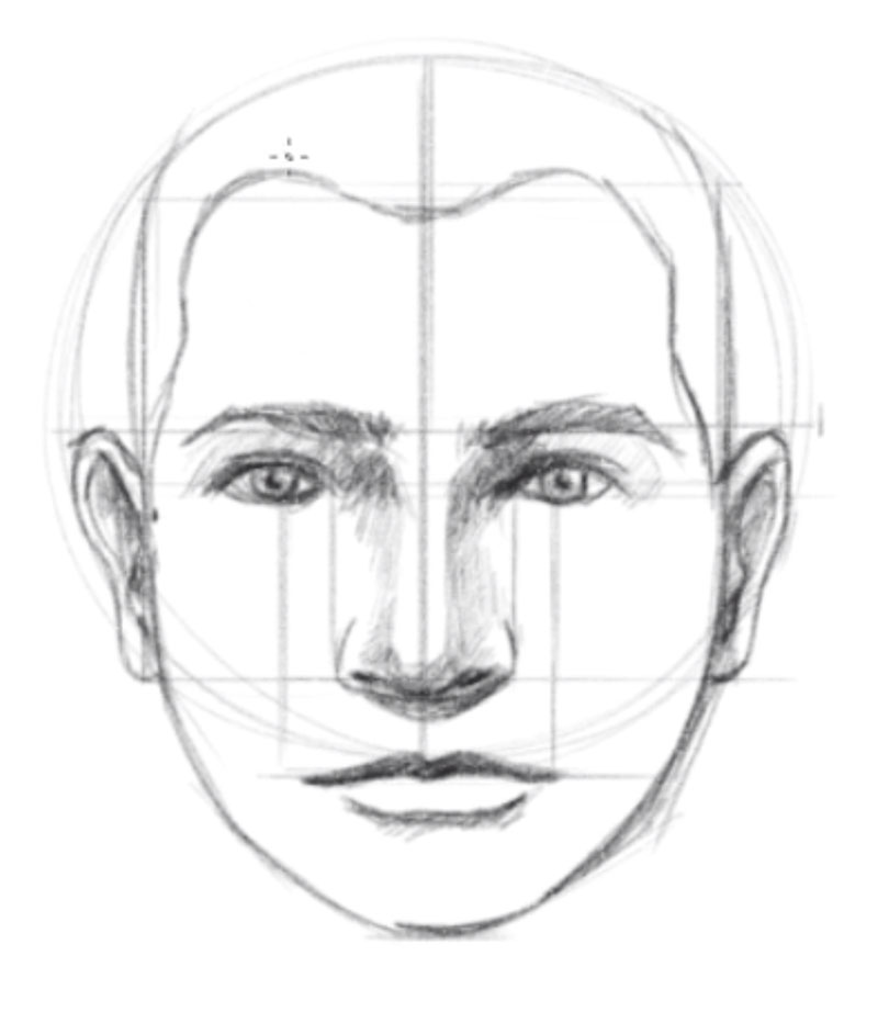 How to draw faces - step - 9 - Draw the hairline