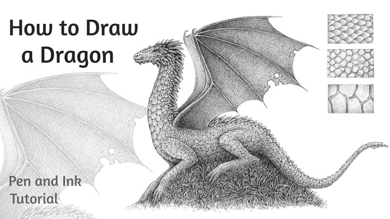 How to Draw a Dragon with Pen and Ink