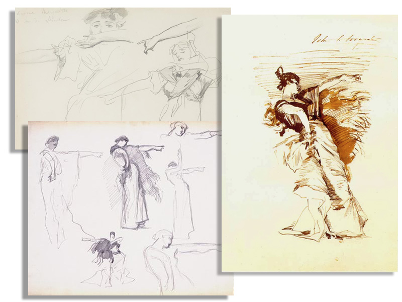 Sketches of the dancer