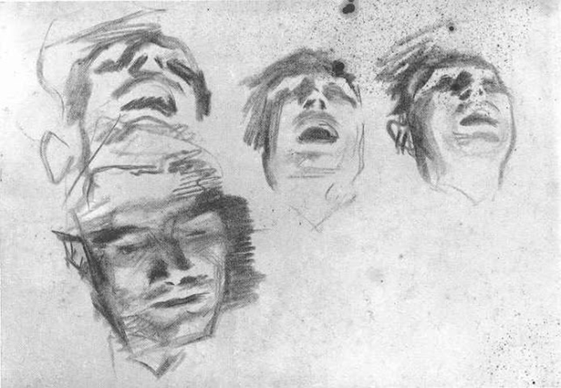 Sketches of the guitar player