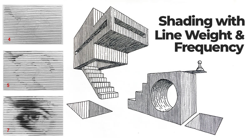 Shading with line weight and frequency