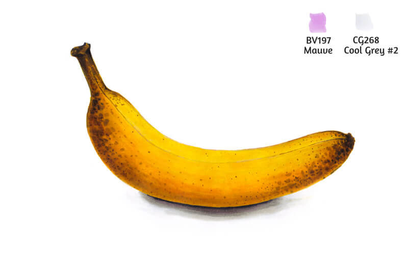 Marker drawing of a banana