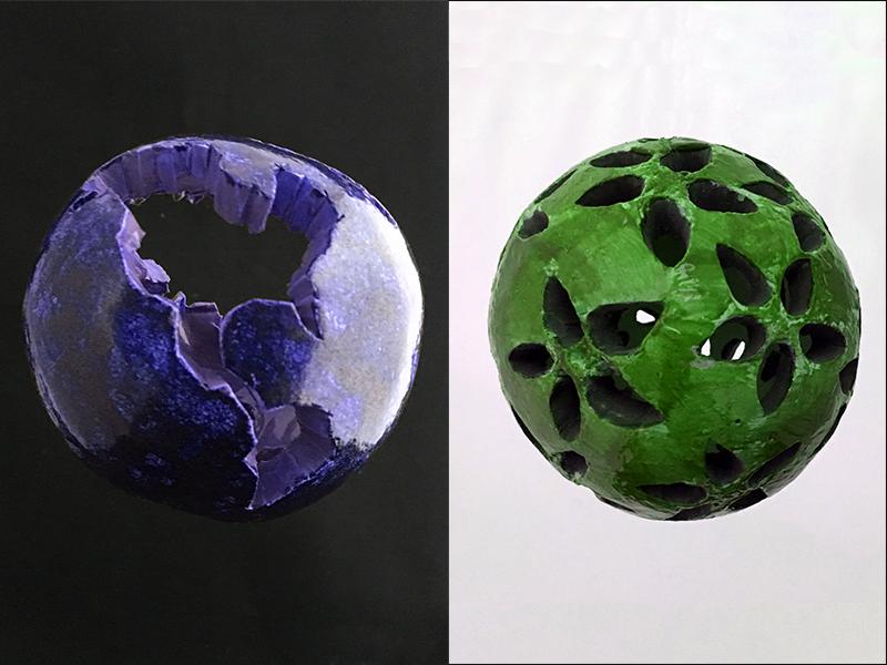 Glazing clay sculptures
