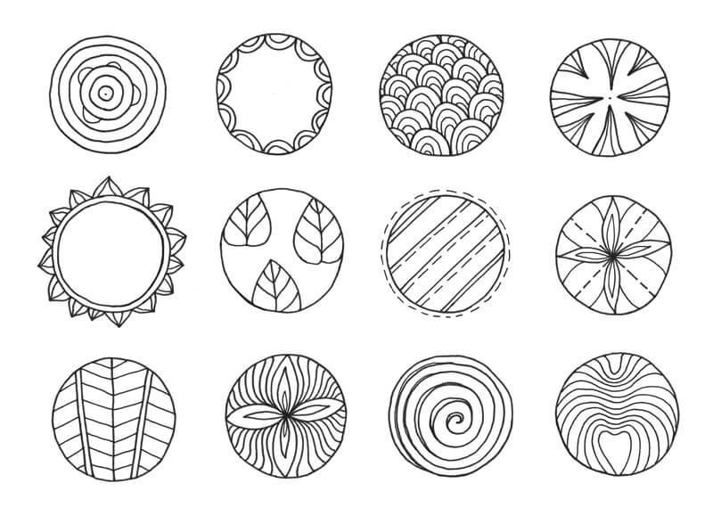 Circle patterns - meditative doodling