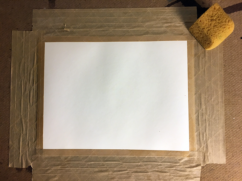 Stretched watercolor paper