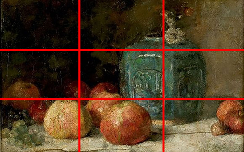 Van Gogh uses the rule of thirds