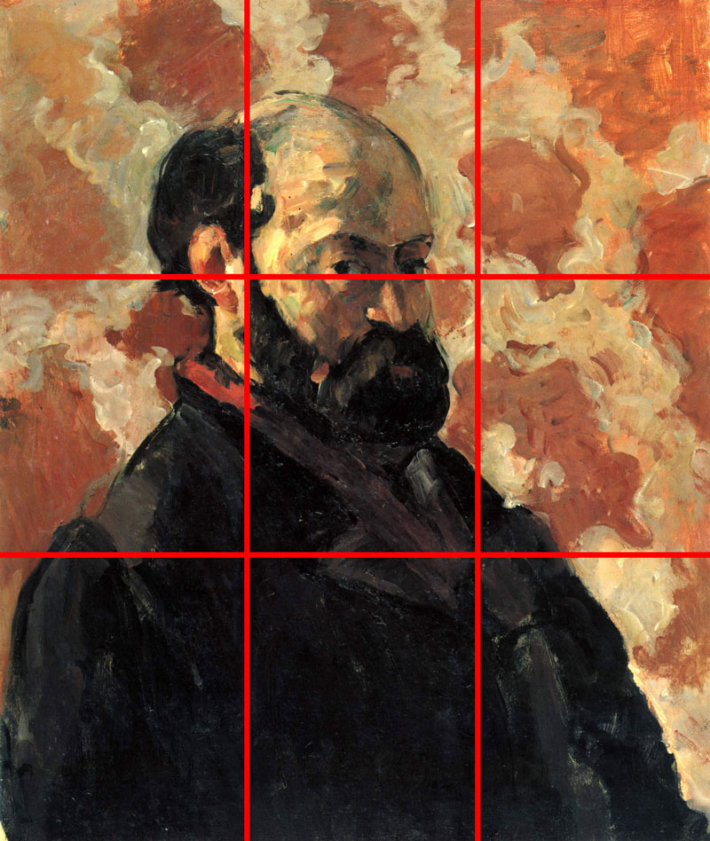 Cezanne portrait example using the rule of thirds