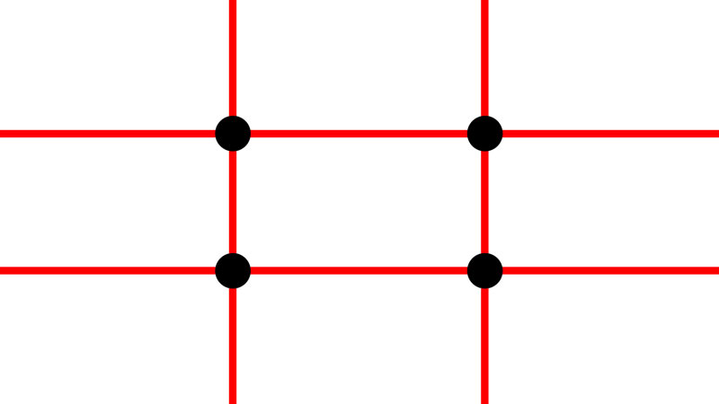 Intersecting points - rule of thirds