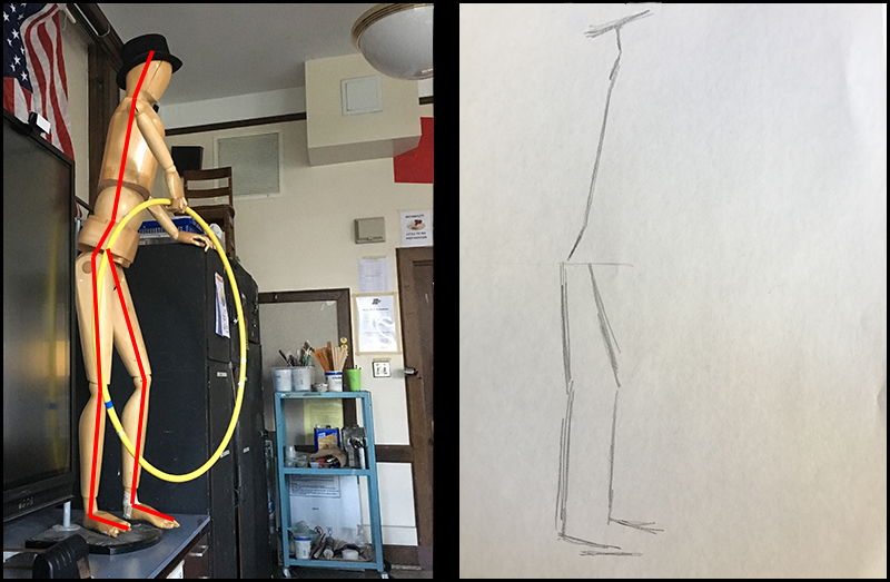 Drawing the figure with gestural lines