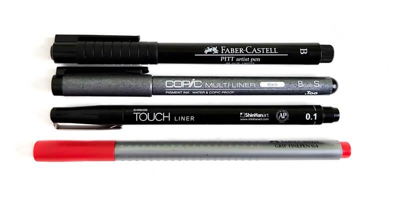 Brush pen art supplies