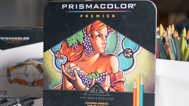 Prismacolor Premier colored pencils used for this drawing
