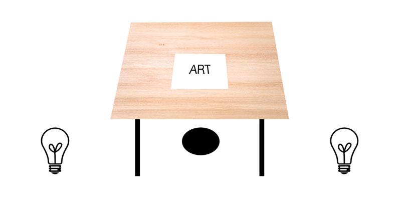 Art studio lighting - tilted surface