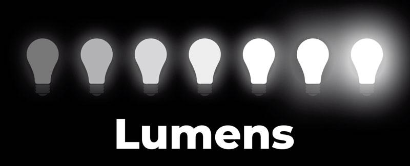 Light intensity - Lumens scale
