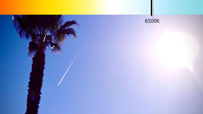 Sunlight Kelvin scale