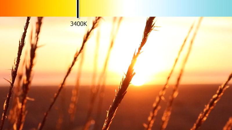 Sunset Kelvin scale