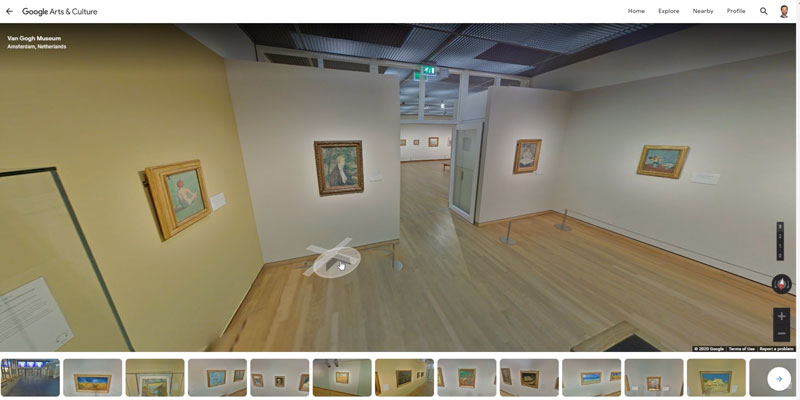 Virtual Art Museum Tour