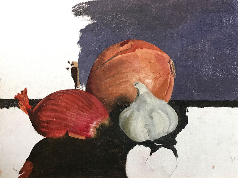 Adding the background and foreground in the still life
