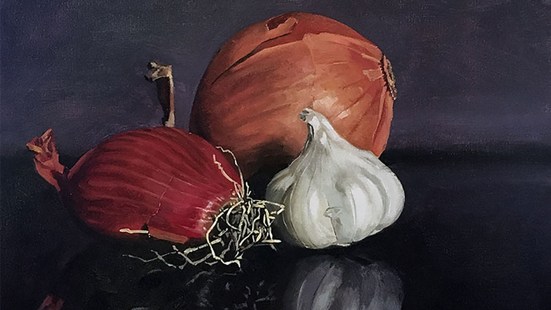 Oil Painting - Vegetable Still Life