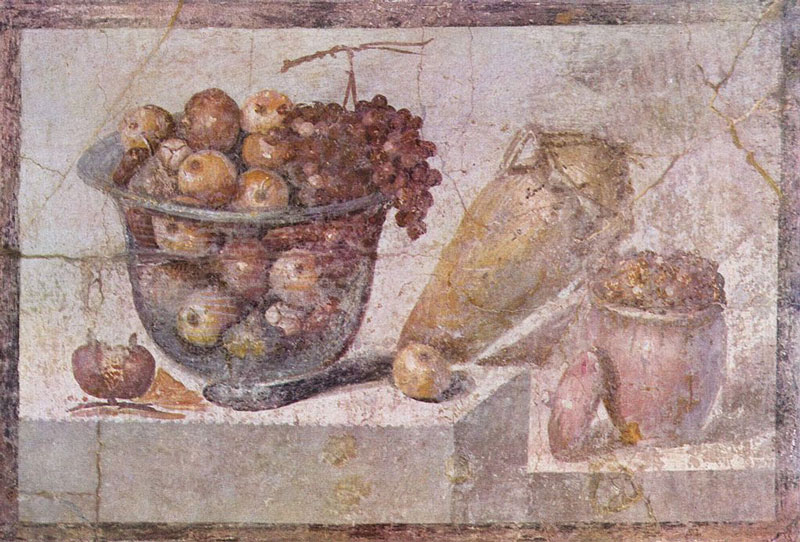 Still Life Fresco Painting from Pompei