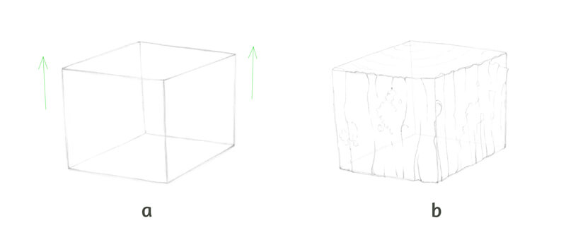 Drawing texture on a cube