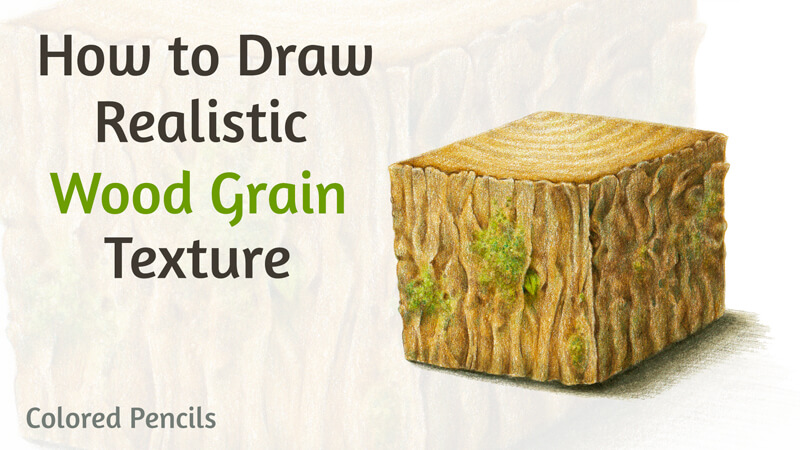 How to Draw Wood Grain Texture with Colored Pencils