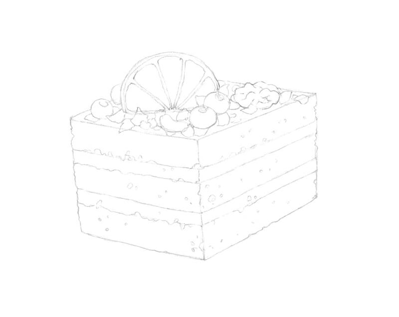 Refining the sketch of the cake
