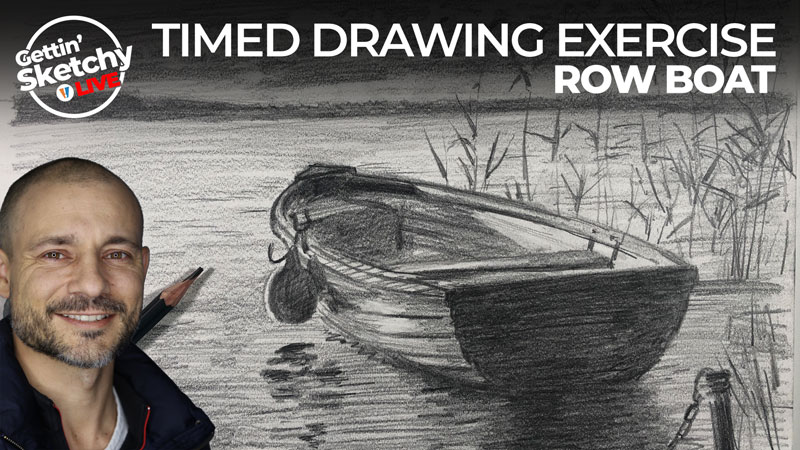 Timed Drawing Exercise - Row Boat