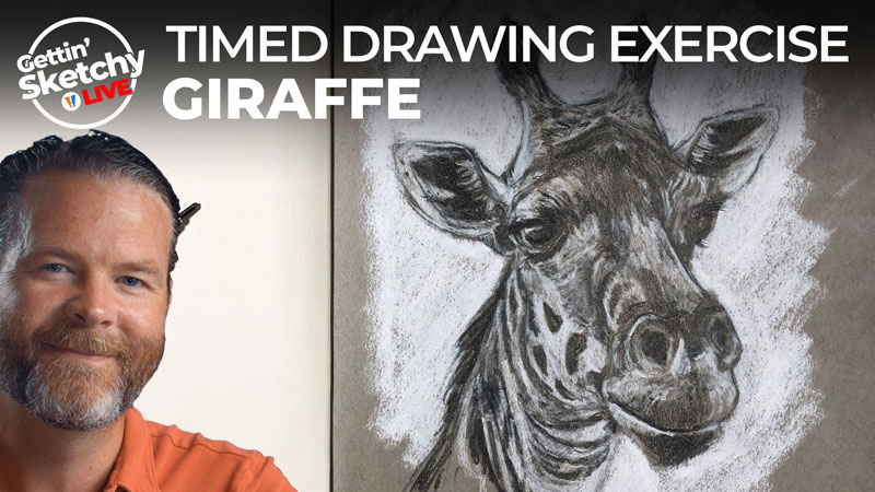 Timed Drawing Exercise - Giraffe