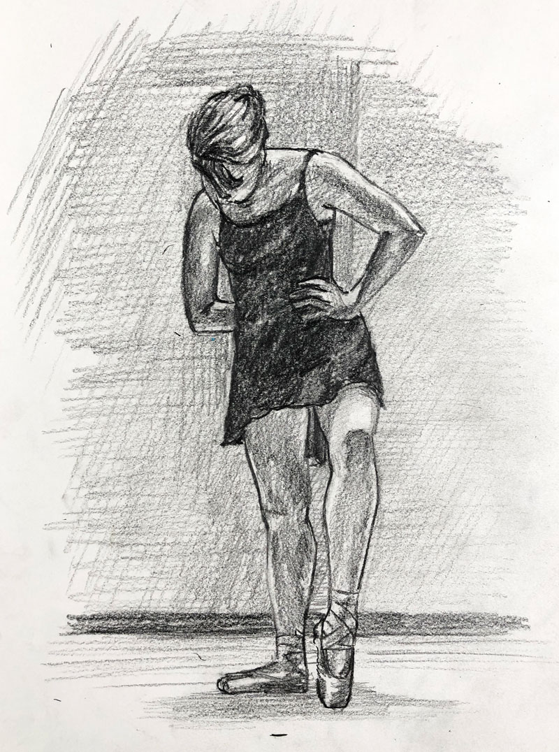 Pencil sketch of ballerina