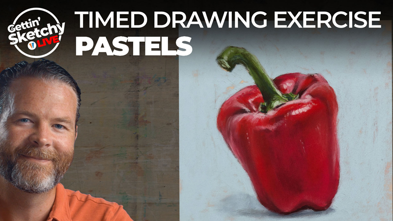 How to Draw a Red Pepper with Pastels