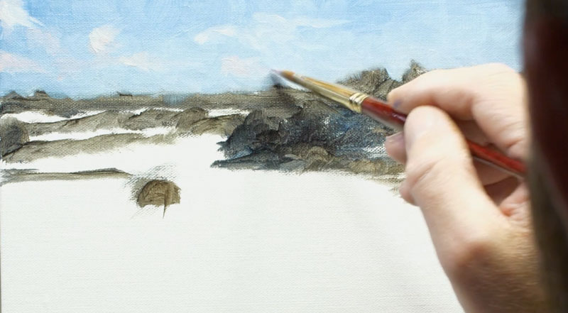 Painting the sky and clouds