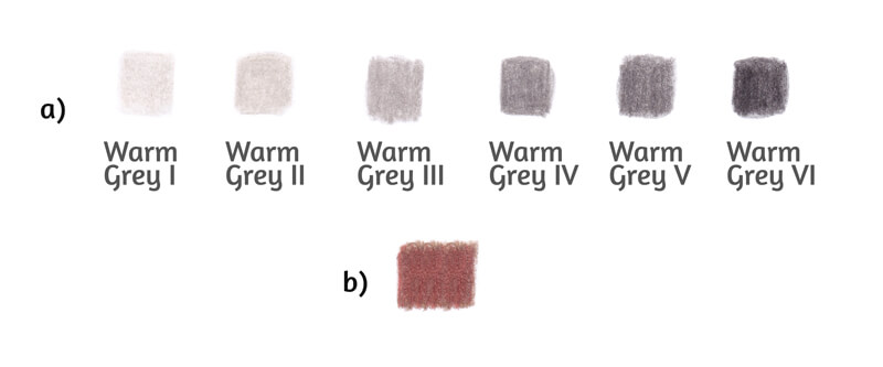Warm grey value scale