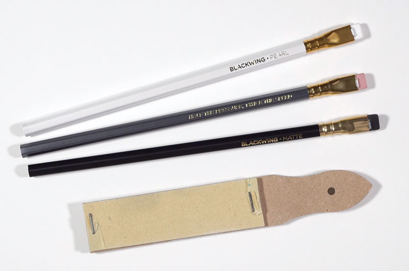 three blackwing pencils