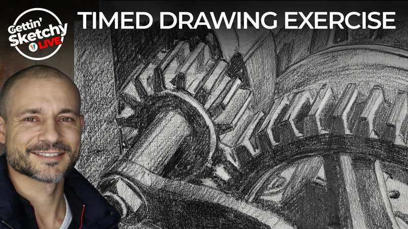 How to draw gears with pencil