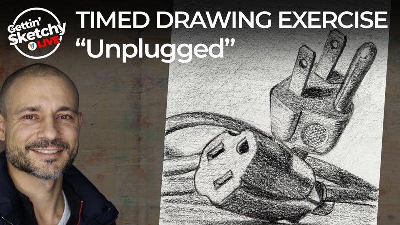 Unplugged - Timed Drawing Exercise