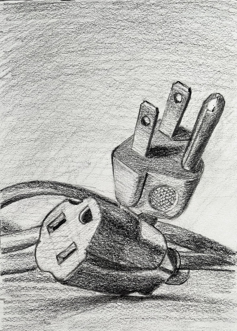 Drawing of an electrical cord