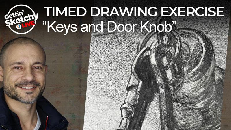 Drawing a Door Knob and Keys