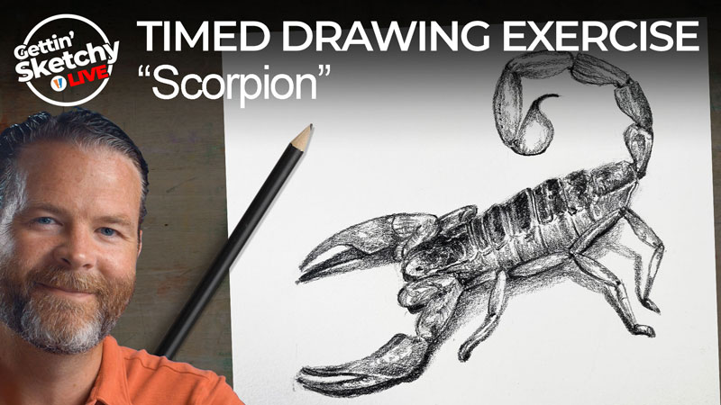 How to Draw a Scorpion with Pencil