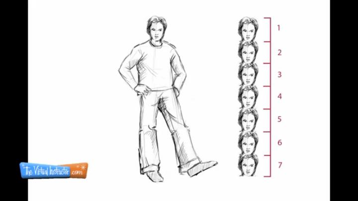 How To Draw A Man Standing Sideways | www.pixshark.com ...