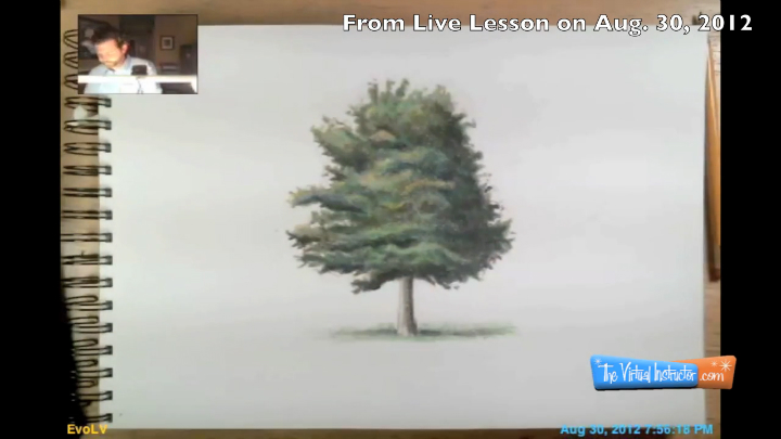 how to draw a tree from imagination from live lesson