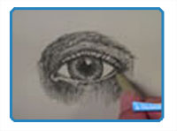 How to draw an eye pen and ink head
