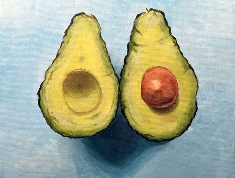Acrylic Painting Avocados