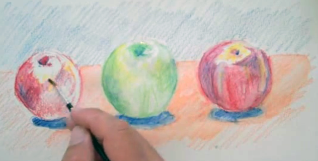 Activating Watercolor Pencils