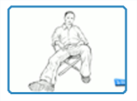 How to draw a person sitting down head