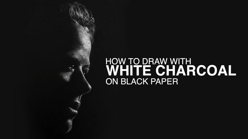 How To Draw With White Charcoal On Black Paper