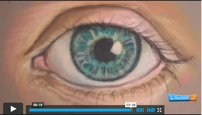 How to draw an eye with pastel pencils video