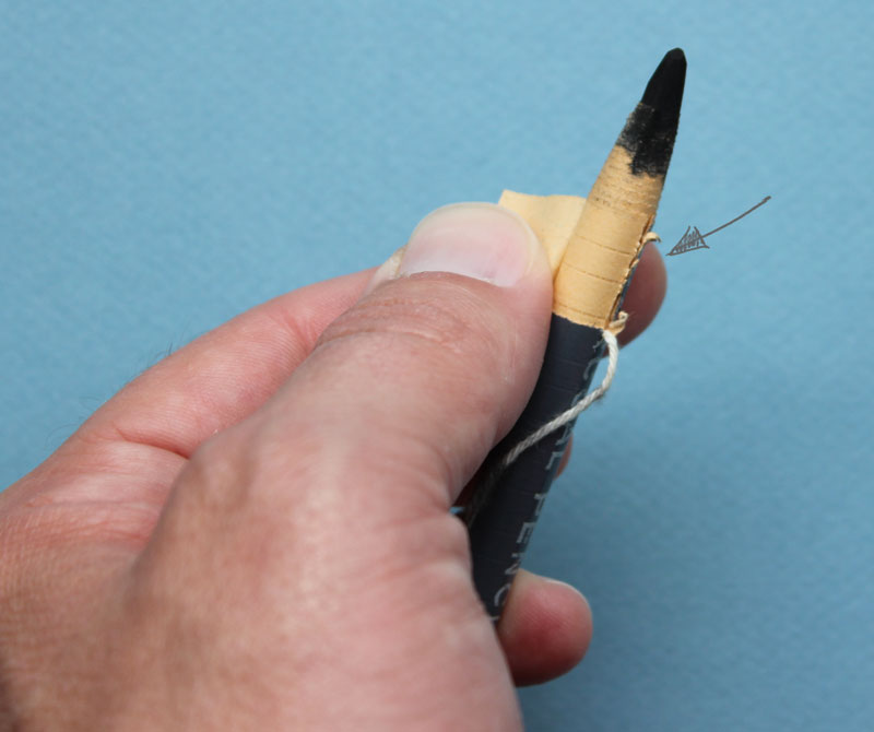 How to sharpen a charcoal pencil