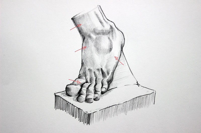Drawing Lines Meaning : Hatching and cross drawing techniques