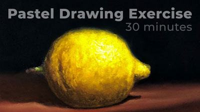 How to draw a lemon with pastels